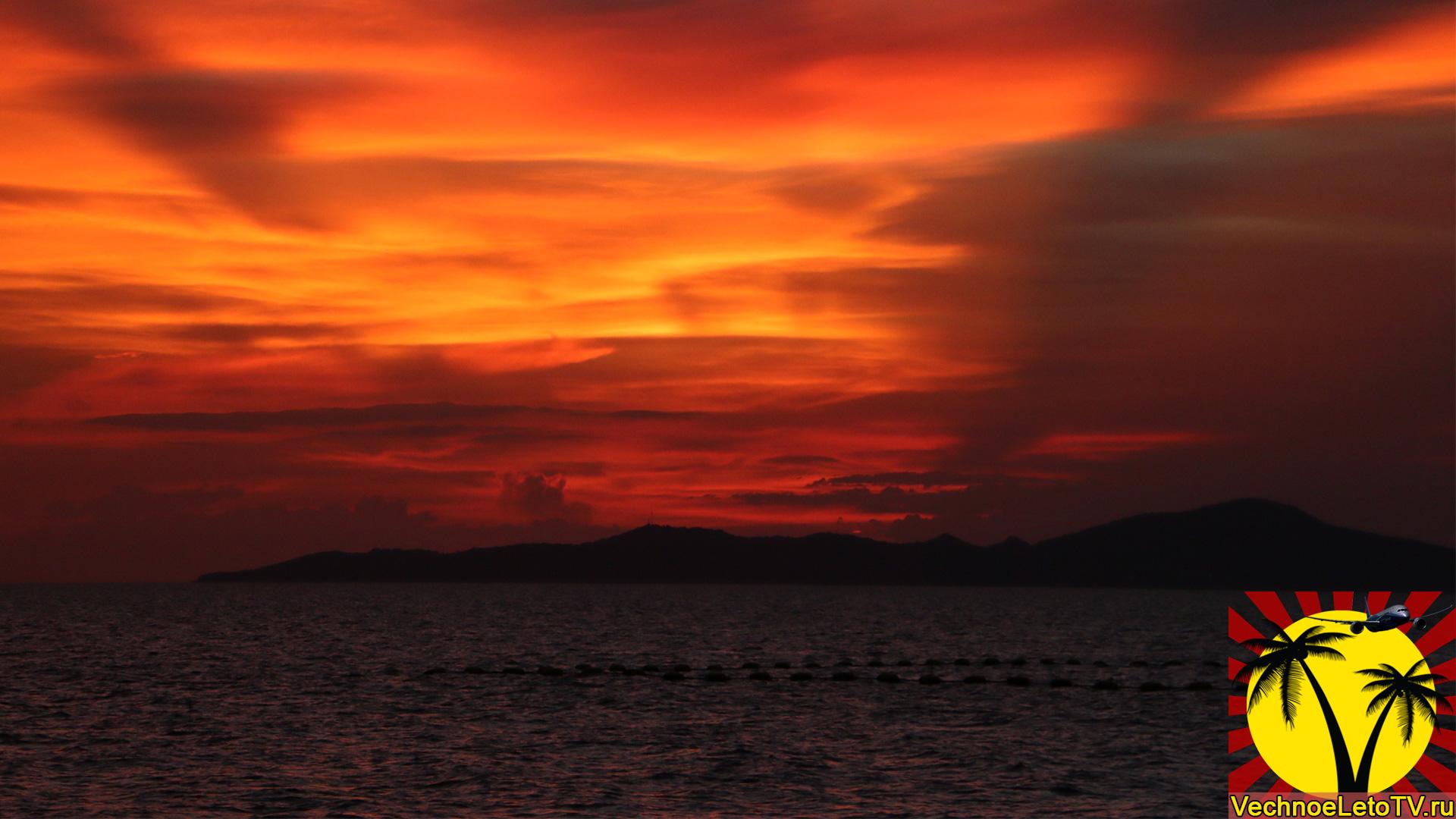 Закат-в-Тайланде