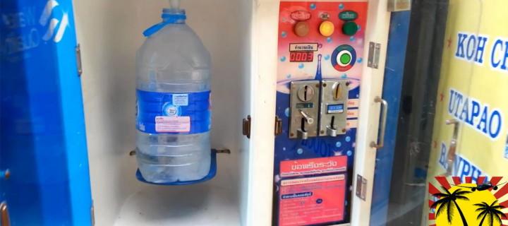 Питьевая вода в Тайланде по 1 бату за литр